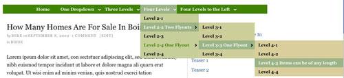 Figure 3: CSS menu with three dropdowns