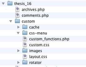 Figure 8: css-menu folder created