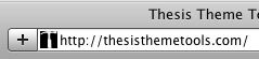 Figure 1: Thesis Theme Tools Favicon